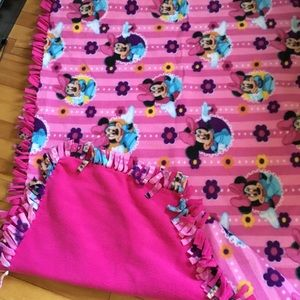 Other - Home made Minnie Mouse toddler blanket